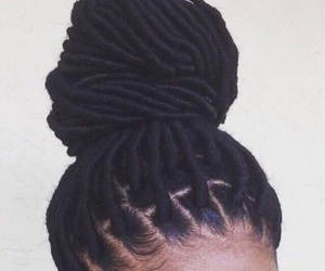 hair, faux locs, and dreads image