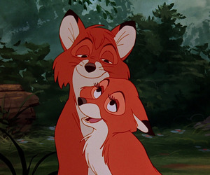 couple, disney, and fox and the hound image
