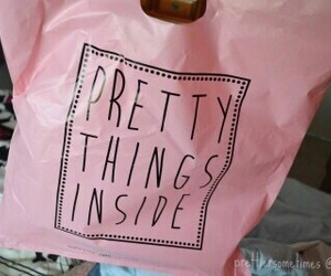pink, pretty, and bag image