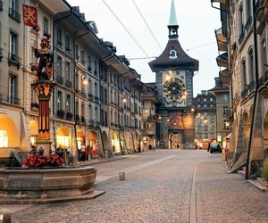 buildings, switzerland, and travel image