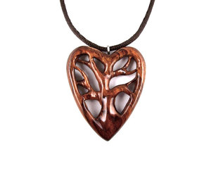 gift for her, wood jewelry, and hand carved pendant image