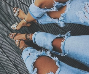 blue, jean, and jeans image