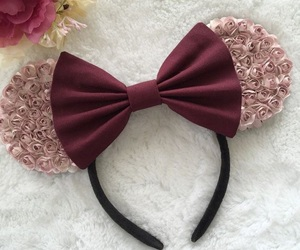 bow, disney, and burgundy image
