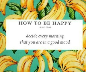 happy, quotes, and banana image