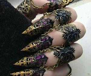 nails, gothic, and magic image