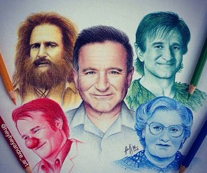 robin williams, actor, and art image