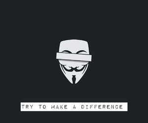 anonymous, change the world, and difference image