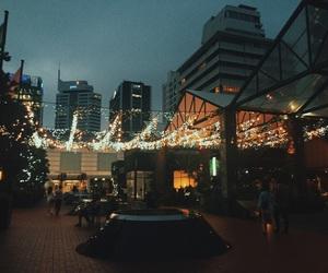 city, fairy lights, and lights image