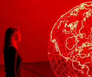 earth, girl, and light image