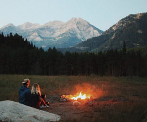 adventure, campfire, and fire image