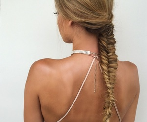 blonde, model, and tanned image