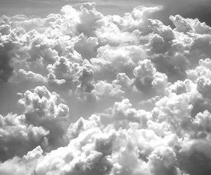 black and white, cloud, and tumblr image