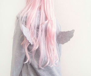 pink, hair, and wings image