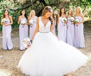 bride, wedding, and bridesmaid image