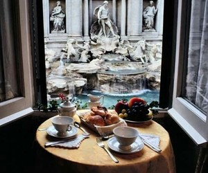rome, breakfast, and italy image