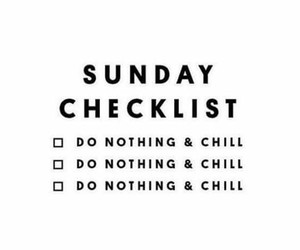 checklist, Sunday, and chill image