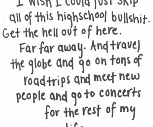 quotes, travel, and concert image