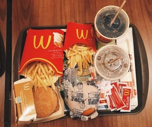 food, burger, and McDonalds image