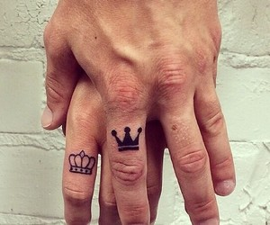 beauty, couple, and crown image