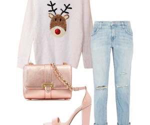 heels, jeans, and Polyvore image