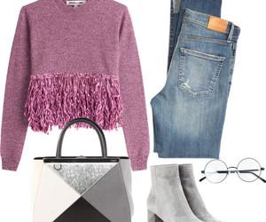 fashion, pink, and grey image