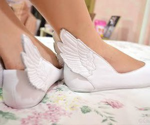 angel, ballet, and shoe image