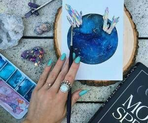 art, drawing, and nails image
