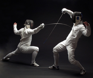 fencing, fight, and foil image