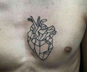 tattoo, heart, and boy image
