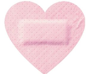 pink, .oh so cute!, and heart shaped bandaid image