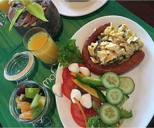 breakfast, FRUiTS, and meat image