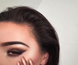 eyebrows, girl, and Nude image