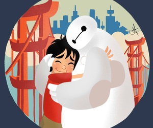 disney, big hero 6, and art image