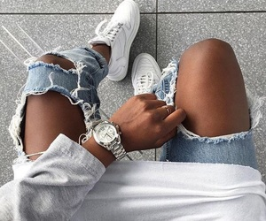 fashion, jeans, and shoes image