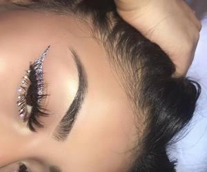 diamond, makeup, and eyebrows image