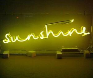 sunshine, neon, and yellow image