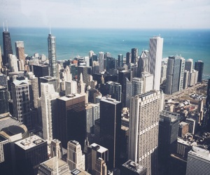 chicago, city, and skyscrapers image
