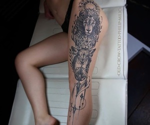 inspo, tattoo, and thigh tattoo image