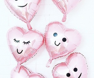balloons, girly, and pink image