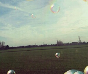 arcobaleno, bolle, and sfondi image