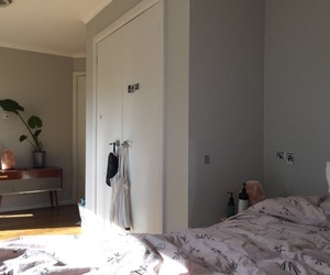 room, bed, and house image