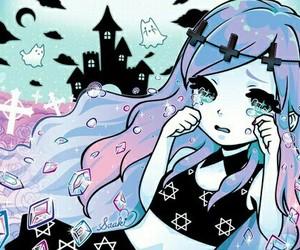 pastel goth, kawaii, and anime image