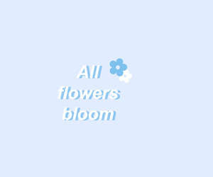 blue, pastel, and flowers image