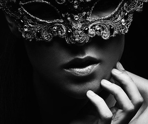 girl, mask, and beautiful image