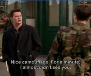 funny, friends, and chandler bing image