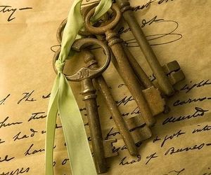 handwrite, keys, and vintage image