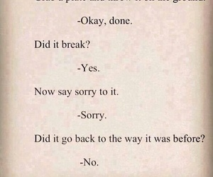 quotes, sorry, and broken image