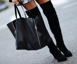 black, street style, and boots image