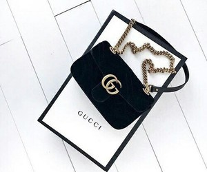 gucci, black, and luxury image