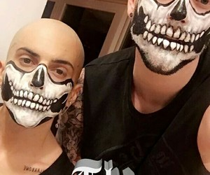 make up, skull, and scott hoying image